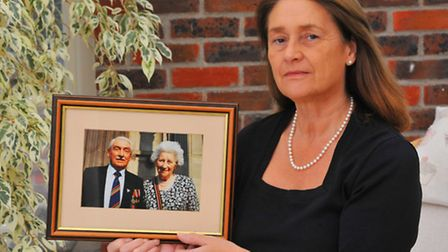 Sally Dye, from Taverham who is going to Taiwan to visit a memorial to her father Bernard Wilson and other POW's. Photo...
