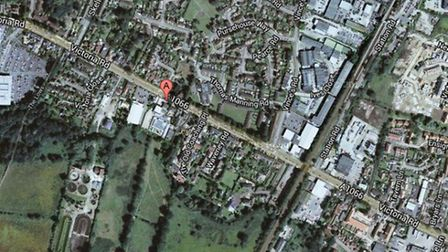 Google Map view of Victoria Road, Diss.