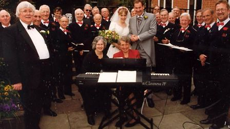 Bure Valley Singers performing at a wedding in 1996.