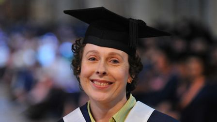 Tania Colley - City College students celebrate their graduation at Norwich Cathedral where the awards were presented by...