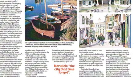 The Sun-Herald (Sunday edition of the Sydney Morning Herald) did a feature on Norfolk. Photo: Supplied