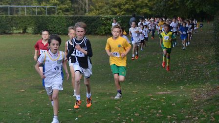 Leader of the pack - action from the cross country races for youngsters from all over the region he
