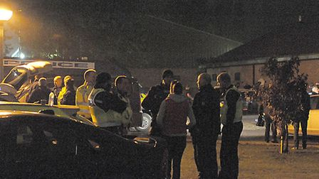 Officers assemble at Whitemoor Prison before the raids.
