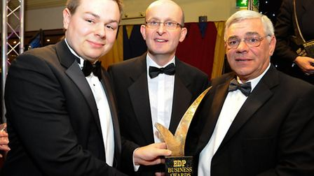 EDP Business Awards 2012 at the Holiday Inn, Norwich North. Business of the Year winners Neal Sands (R) , Thomas Sands (L)...