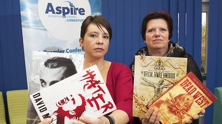 Lowestoft Horror festival organisers Emma Bunn (red top) and Jo Wilde are getting ready for the festival this year.