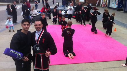 Craig Hutley and Kevin Sanford with Thetford Hapkido Club