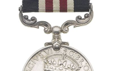 Cecil H Moyse's Military Medal, which is up for auction on at Bonhams on Wednesday.