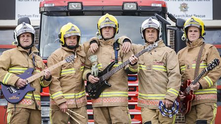 The Backdrafts - a band made up from members of the Norfolk Fire service. Picture: Matthew Usher.