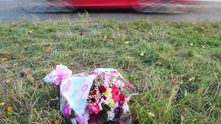 Flowers have been laid at the scene of a fatal crash on the A12 at Frostenden near Wrentham.