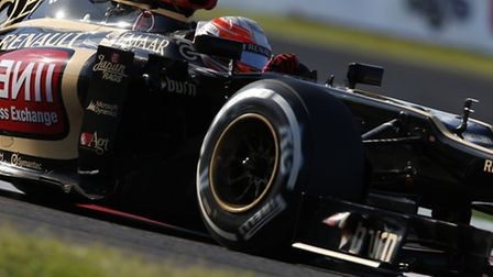 Romain Grosjean looks as good as his Lotus E21 chassis at the moment. Photo: Steven Tee