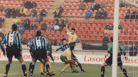 Penalty area action at the San Siro.