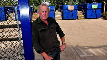The Sole Bay Recycling Centre, Southwold is now charging people to use the facility.; Owner, Graham