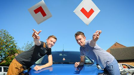 17 year old twins, Steve (left) and Matthew Rudram celebrate passing their test in 2012. However, un