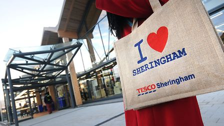 The new Tesco store in Sheringham opens its doors to the public. PHOTO: ANTONY KELLY