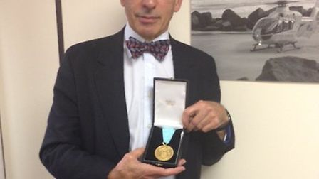 Dr David Zideman, Director of Clinical Operations at the East Anglian Air Ambulance has been awarde