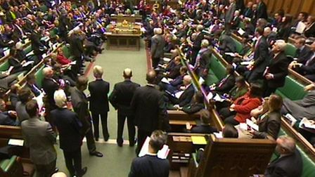 MP's following the Autumn Statement delivered by George Osborne in the House of Commons, central Lon