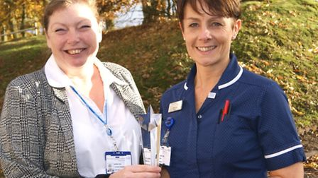 Maria Cox (left) and Claire Kent, at the Queen Elizabeth Hospital in King's Lynn