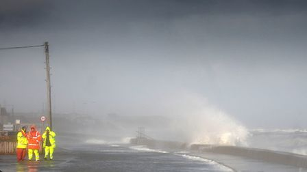 Stormy weather at Walcott earlier this year. PHOTO: ANTONY KELLY