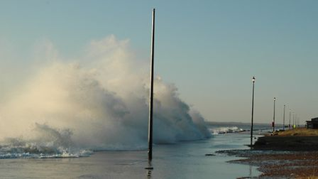 The high tide in Felixstowe at 7am Friday November 9, 2007. Taken by Star reader Tony Theunissen