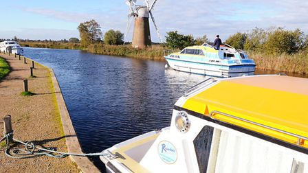 View of Turf Fen Mill on the River Ant at How Hill, Norfolk Broads