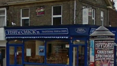 The Fish 'n' Chick'n restaurant in Great Yarmouth, which was held up by a balaclava-wearing armed ro