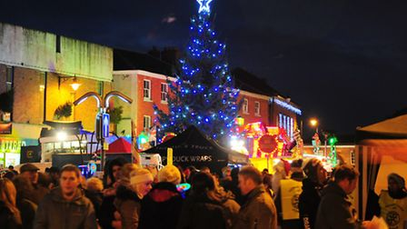 Dereham's countdown to Christams began with a tree-lighting ceremony, with stalls, choirs and a funf