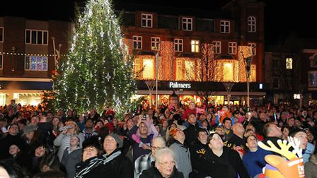 Great Yarmouth Christmas lights switch on in the market place.Picture: James Bass