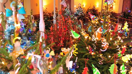 Beccles Hungate church annual Christmas tree festival.