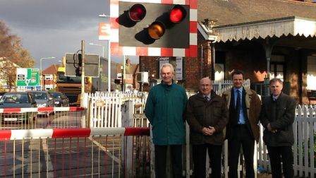 Richard Perkins, from the Suffolk Chamber of Commerce Transport Board, Colin Law, leader of Waveney