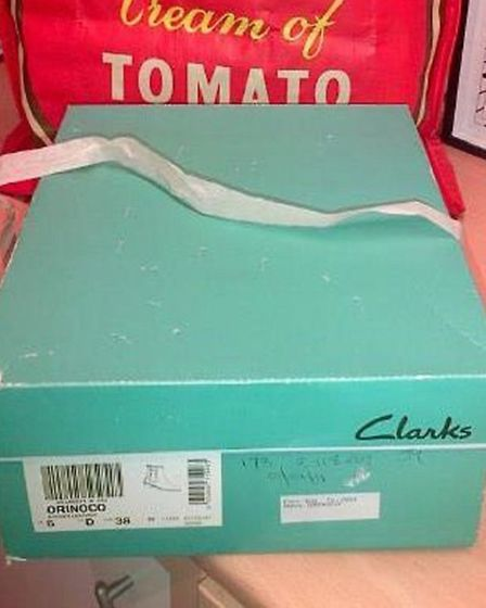 The shoebox was left outside the RSPCA charity shop in Caister Road. inside was a nine-week-old kitt