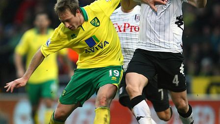 Luciano Becchio in a rare appearance for Norwich City.