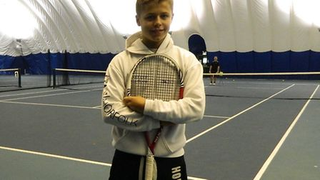 Will Davies at the Easton & Otley College tennis centre.