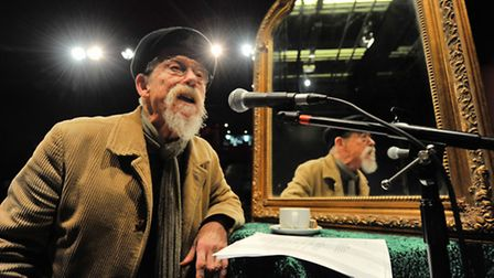 John Hurt at the Sheringham Little Theatre where he was recording the voice of the mirror for Snow W