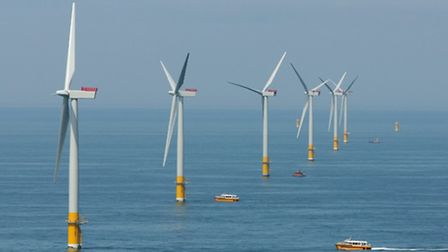 Wind turbines that have already been built off the coast of East Anglia