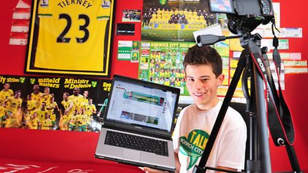 Jack Reeve, 15, from Ormesby has created a Norwich City FC YouTube channel.