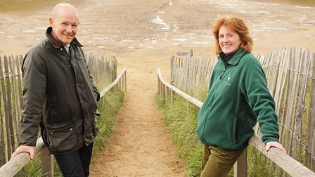 Sarah Henderson is the new conservation manager on the Holkham Estate. With Sarah is estate manager