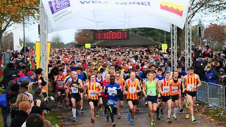 Action from the 2013 Norwich Half Marathon which started and finished at the Norfolk Show-ground.PHO