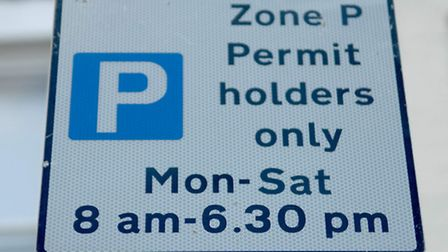 One of Norwich's parking permit zones.