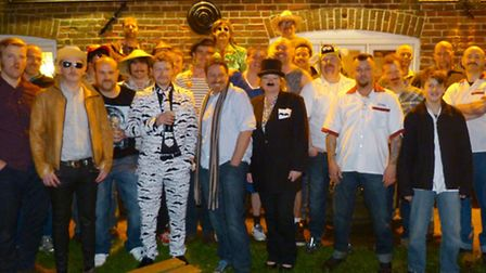 Members of Bodham Red Hart's Movember fund-raising crew. Picture: SUBMITTED