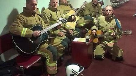 Norfolk Fire Service band The Backdrafts prepare for their preliminary Britain's Got Talent audition