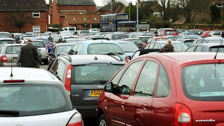 Well-used - the Cherry Tree car park in Dereham.; Photo: Bill Smith
