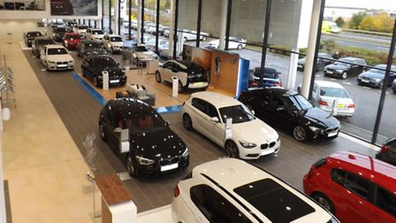 Cooper BMW Norwich's new showroom can hold up to 27 cars.