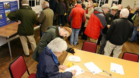 Villagers get to see the revised plans for the Homes for Heacham scheme at a consultation night at S