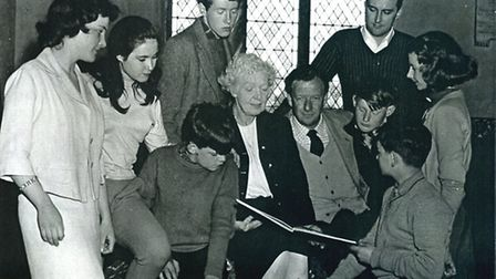 A young Michael Crawford in the 1959 production of Noye's Fludde at St Margaret's Church in Lowestof