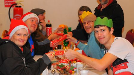 Festive happiness in St Andrews Hall, Norwich at the Open Christmas. Photo: Steve Adams