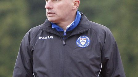 Lowestoft Town Joint Manager Ady Gallagher. Picture: Matt Bradshaw/phcimages.com.