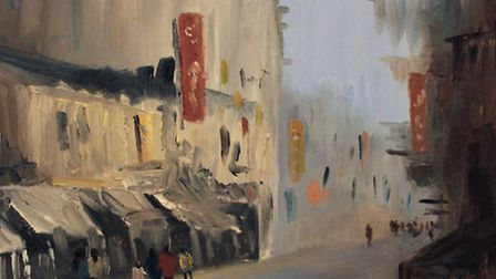 Hong Kong by Keiron Williamson, which is his first work to go up for auction. Picture: submitted
