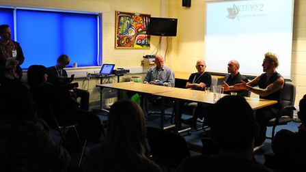 The Autumn 2 Horror in the East Convention at the Aspire Centre.Authors talking at one of the semina