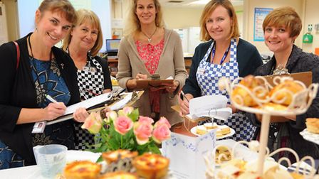 Judges of the inter schools food challenge at Hellesdon High School, from left, Debra Griffiths, cha