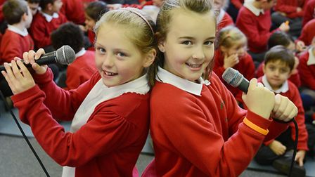 School children at Ingoldisthorpe Primary School are recording around 20 tracks for a CD to be sold